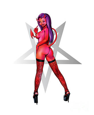 Digital Art - Sexy Devil by Brian Gibbs