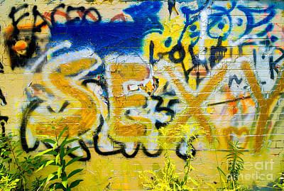 Sexy Graffiti Art Print