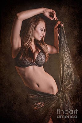 Nude Fashion Girl Woman Naked Nude Photograph - Sexy Lace by Jt PhotoDesign