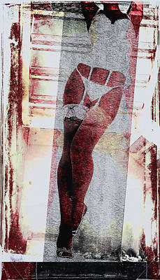 Woman Underwear Digital Art - Sexy Legs by David Ridley