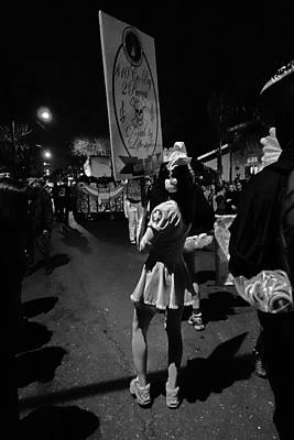 Photograph - Sexy Nurse At The Krewe Du Vieux Parade In New Orleans by Louis Maistros