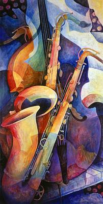 Cello Painting - Sexy Sax by Susanne Clark