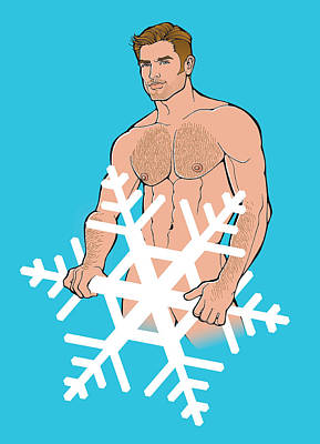 Digital Art - Sexy Snowman C by Steven Stines