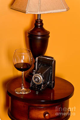 Table Wine Photograph - Wine And A Camera by Jt PhotoDesign
