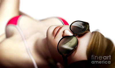 Adult Digital Art - Sexy Woman In Sunglasses by Michal Bednarek