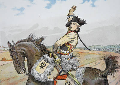 Military Uniform Painting - Seydlitz At Rossbach by Richard Knoetel