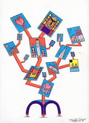 S.f Art Tree Stand Art Print by Michael Friend
