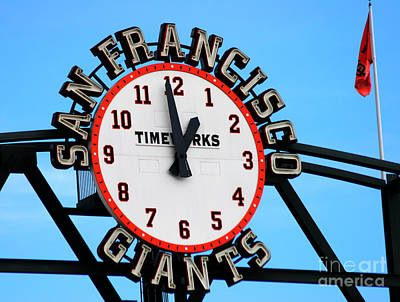 San Francisco Giants Baseball Time Sign Art Print by Tap On Photo