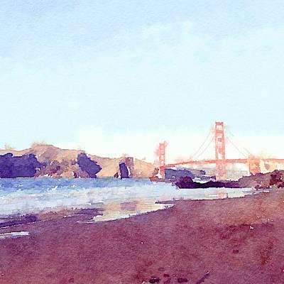 Bay Area Digital Art - Sf Watercolor by Ariane Moshayedi