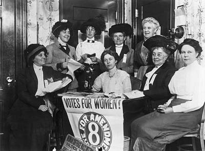 Of Women Photograph - Sf Women's Suffrage Effort by Underwood Archives