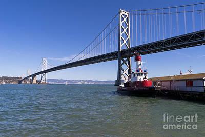 Fireboat Photograph - Sffd Guardian Fireboat Number 2 At The Bay Bridge On The Embarcadero Dsc01839 by Wingsdomain Art and Photography