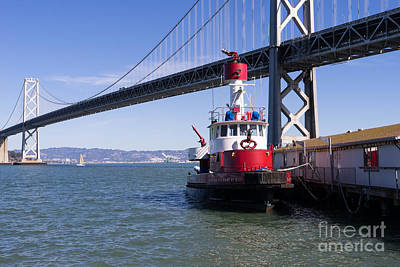 Fireboat Photograph - Sffd Guardian Fireboat Number 2 At The Bay Bridge On The Embarcadero Dsc01841 by Wingsdomain Art and Photography