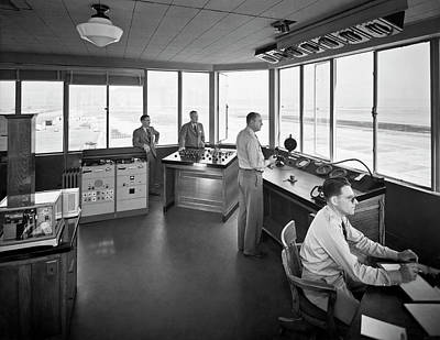Sfo Control Tower Art Print by Underwood Archives