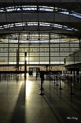 Sfo International Terminal From The Inside Art Print by Alex King