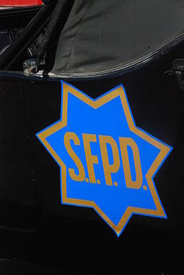 Photograph - Sfpd Emblem by T C Brown