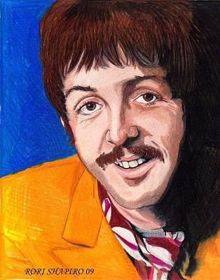 Mccartney Drawing - Sgt Pepper Paul by Rori Shapiro
