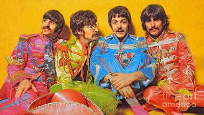 Lonely Hearts Club Band Digital Art - Sgt. Pepper's Lonely Hearts Club Band by Stephen Shub