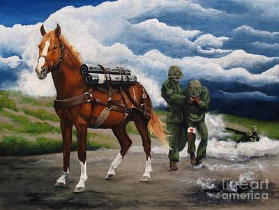 Corps Painting - Sgt. Reckless by Pat DeLong