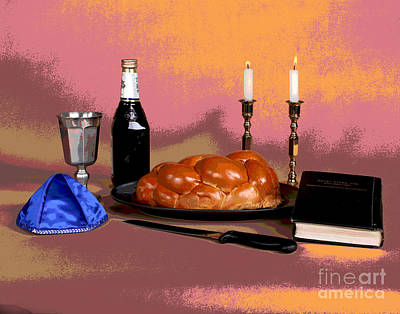 Photograph - Shabbat Essentials by Larry Oskin