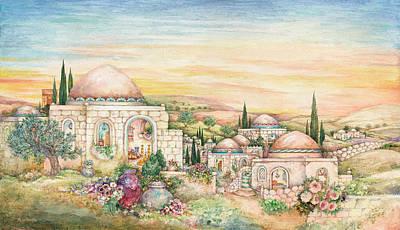 Blessings Painting - Shabbat Landscape by Michoel Muchnik
