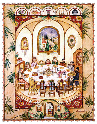 Jerusalem Painting - Shabbat Table by Michoel Muchnik