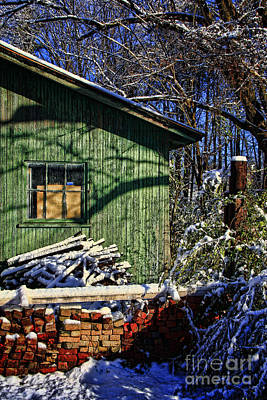 Photograph - Shabby Barn by Betsy Foster Breen