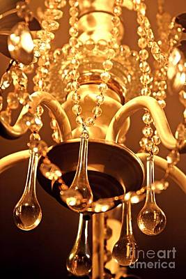 Photograph - Shabby Chandelier Bling by Margaret Newcomb