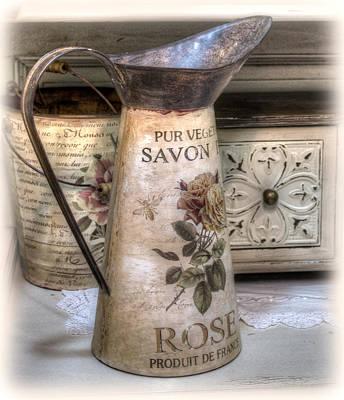 Shabby Chic Vase Art Print