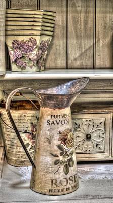 Photograph - Shabby Chick Vase by Radoslav Nedelchev