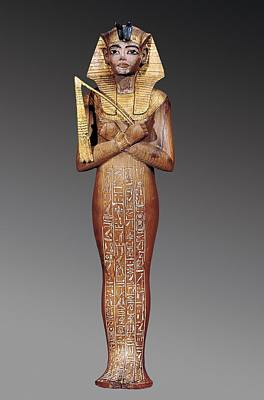 Statue Portrait Photograph - Shabti Figure Of The King. 1370 -1352 by Everett