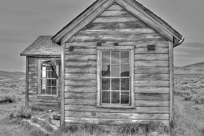 Photograph - Shack At Bodie In Monocrhome by SC Heffner