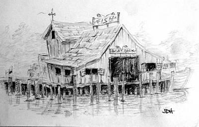 Shack On The Lake Original by Joseph Hawkins