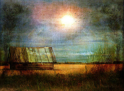 Shack On The Prairie Corner  Art Print