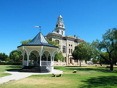 Gypsy Photograph - Shackelford County Courthouse Gazebo by The GYPSY And DEBBIE