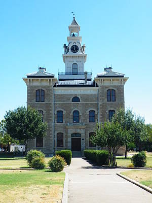 Gypsy Painting - Shackelford County Courthouse by The GYPSY And DEBBIE
