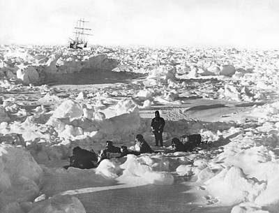 Antarctica Photograph - Shackleton's Antarctic Venture by Underwood Archives