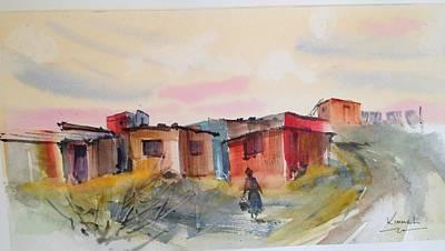 Painting - Shacks On Hillside Near Cape Town by Harold Kimmel