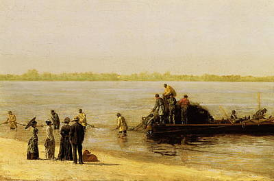Shad Fishing On The Delaware River Art Print by