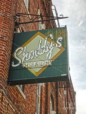 Shaddys Steakhouse Sign Montezuma Iowa Art Print by Gregory Dyer