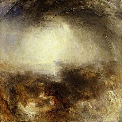 The Deluge Painting - Shade And Darkness - The Evening Of The Deluge by JMW Turner