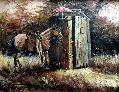 Painting - Shade For My Horse by Lee Piper