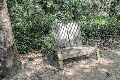 Photograph - Shaded Seating by Jessica Brown