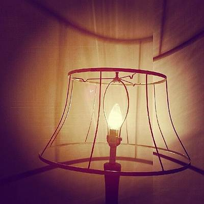 Light Wall Art - Photograph - Shadeless Lamp  by Jill Tuinier