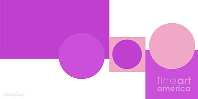 Digital Art - Shades And Shapes Of Radiant Orchid by Andee Design