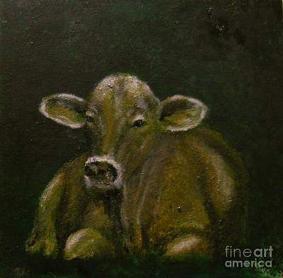 Brown Swiss Painting - Shades by Kathy Carothers