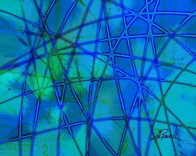 Shades Of Blue   Art Print by Ann Powell