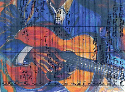 Painting - Shades Of Blue Notes by Ecinja Art Works
