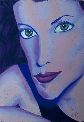 Portraits Pastel - Shades Of Blue by Ianoty Art