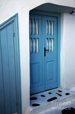 Photograph - Shades Of Blue In Mykonos by John Rizzuto