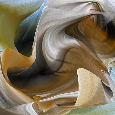Digital Art - Shades Of Brown And White by rd Erickson